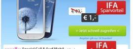 Samsung Galaxy S3 Live Deal zur IFA – S3 für 1 Euro!