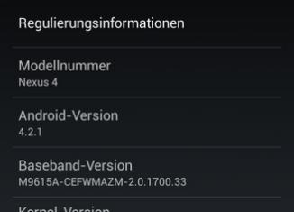 UPDATE: Android 4.2.1 Download für Nexus 4 steht bereit