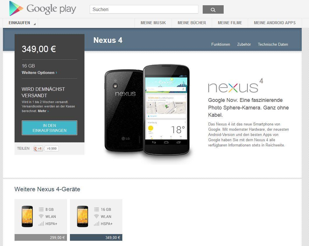 Nexus 4 29.01.2013