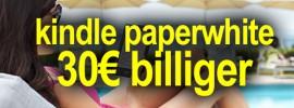 Kindle Paperwhite 2 Angebot: Paperwhite 30€ günstiger!