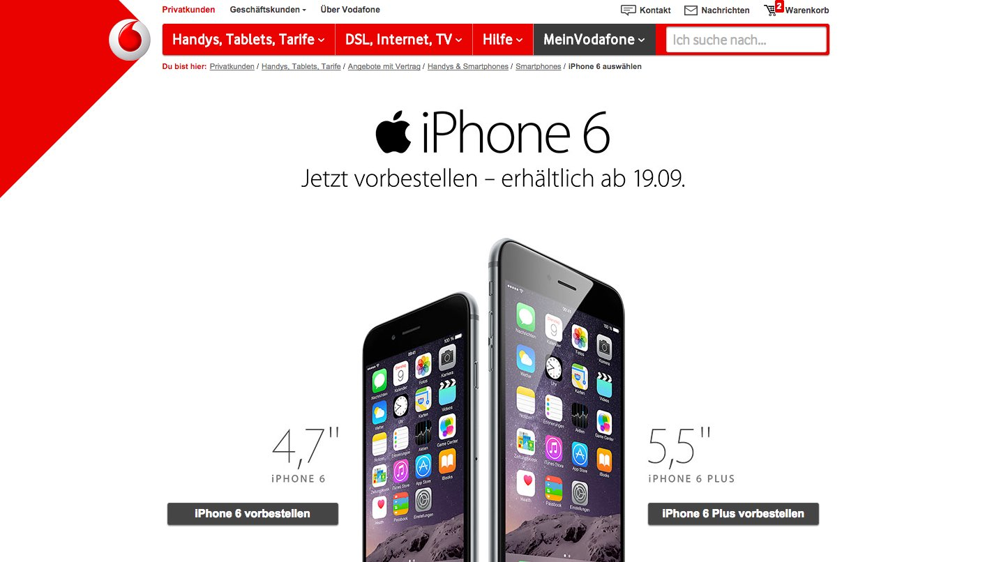 Iphone  Plus Mit Vertrag Vodafone