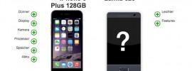 Windows Phone Lumia 625 vs. iPhone 6 Plus im Vergleich