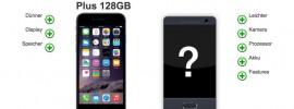 iPhone 6 Plus Vergleich mit Sony Xperia Z2