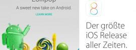 Vergleich iOS 8.1 vs. Android L: Die wichtigsten Funktionen & Unterschiede