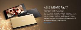 ASUS MeMO Pad 7: Fashion trifft Function