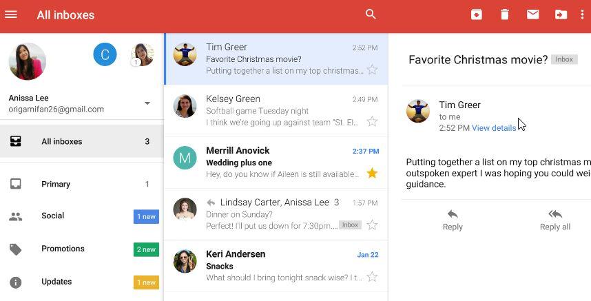 Mehr Übersicht: Gmail bietet jetzt einen gemeinsamen Posteingang für mehrere Accounts an