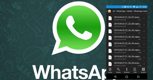 WhatsApp zerlegt eure IP-Telefonanrufe in Audio-Files und speichert diese im Android System!