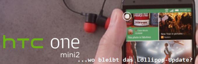 Kein Lollipop-Update für das HTC One Mini 2