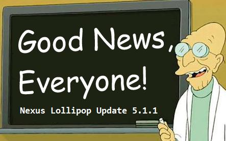 Überraschung: Nexus 9 Lollipop Update im Anflug!