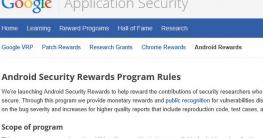 Android Security Rewards bezahlt für die Nexus-Bug-Suche