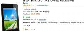 Schnäppchen Deal bei Amazon USA: Refurbished Acer Iconia One für 69,00 USD