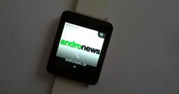 Android Wear Anruf-Optionen an der Smartwatch