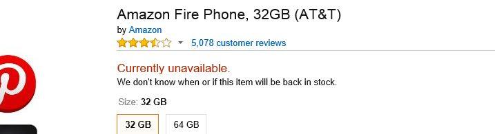 Bei Amazon nicht mehr erhältlich: Fire Phone