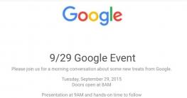 Die Einladung zum Google Event
