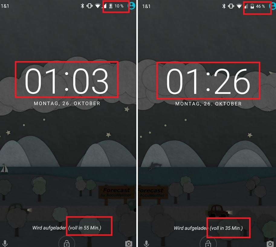 Setzt Maßstäbe: Schnelladefunktion des Nexus 5X