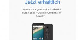 Nexus 5X Play Store - jetzt erhältlich!