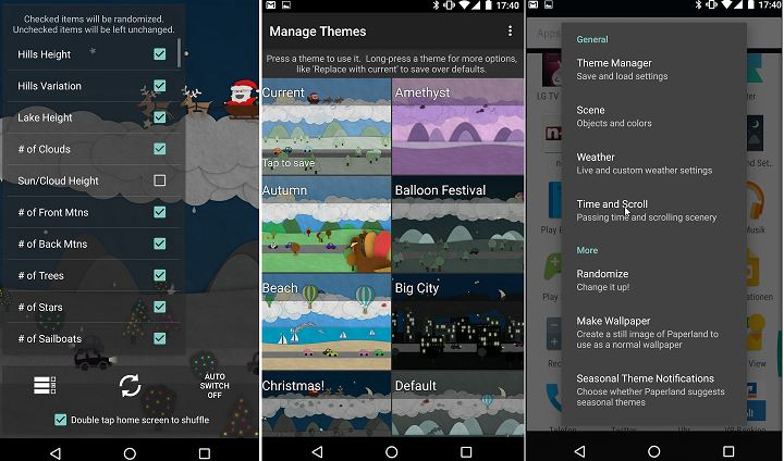 Paperland Live Wallpaper App Funktionen