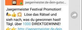 Whatsapp-Gewinnspiel: Jägermeister-Gewinnspiel ist ein Fake